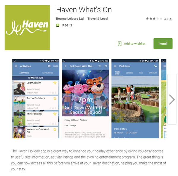 Haven What's On App